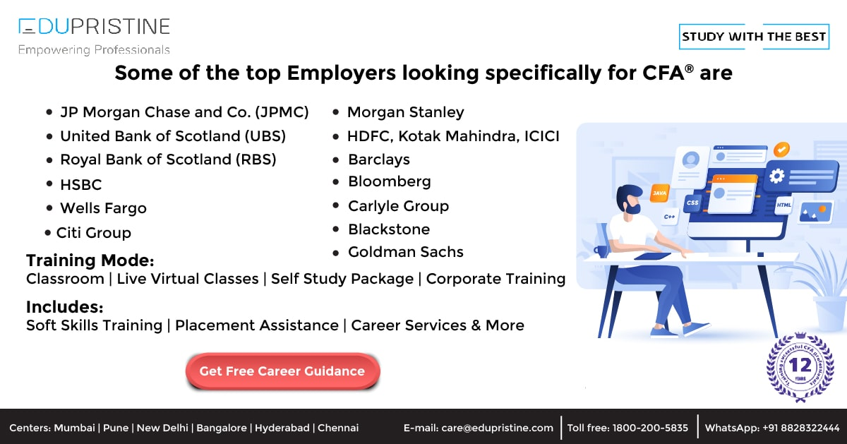 Some of the top Employers looking specifically for CFA are