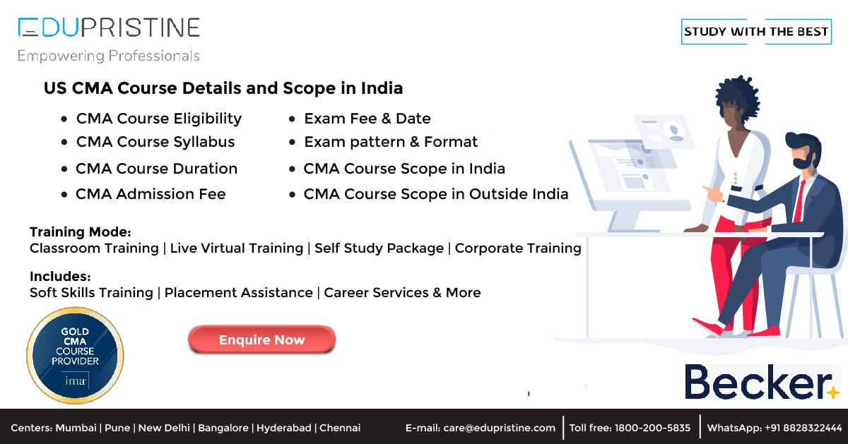 US CMA Course Details and Scope in India