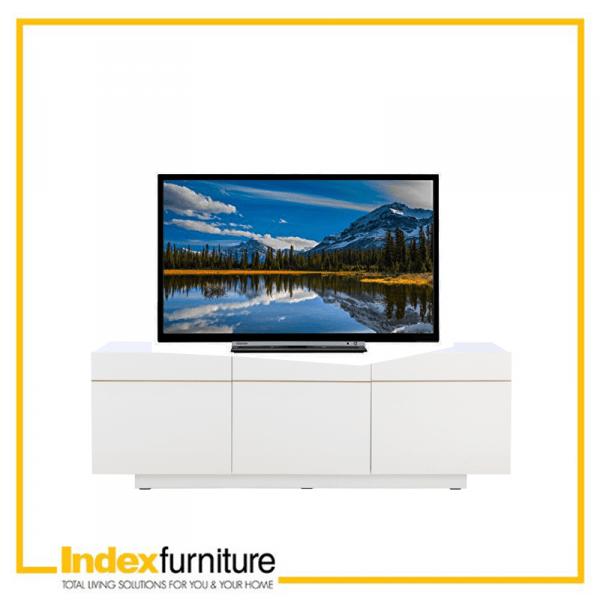 blanc tv stand 150 cm white