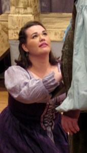 Bridget as Julia, The Duchess of Malfi at Pigeon Creek Shakespeare, 2016