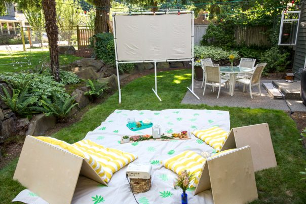 Make Your Own Screen For an Outdoor Movie Night