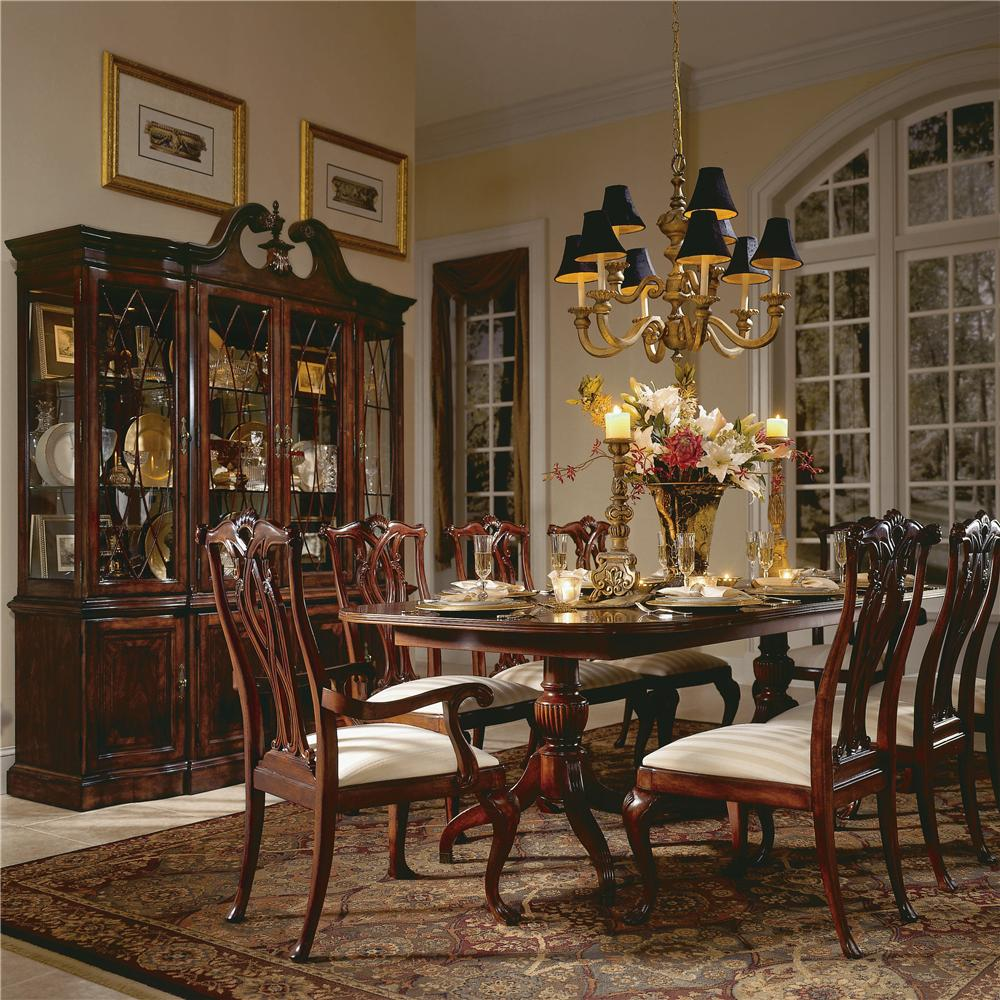 9 Piece Double Pedestal Table Dining Set By American Drew
