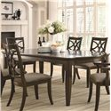 Coaster Meredith 7 Piece Leg Table And Chair Set Coaster