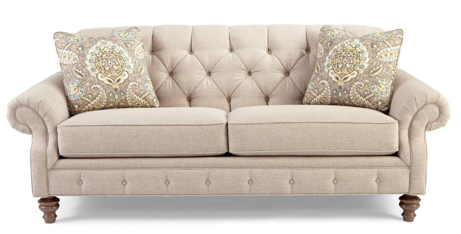Traditional Button Tufted Sofa with Wide Flared Arms by Craftmaster     Traditional Button Tufted Sofa with Wide Flared Arms