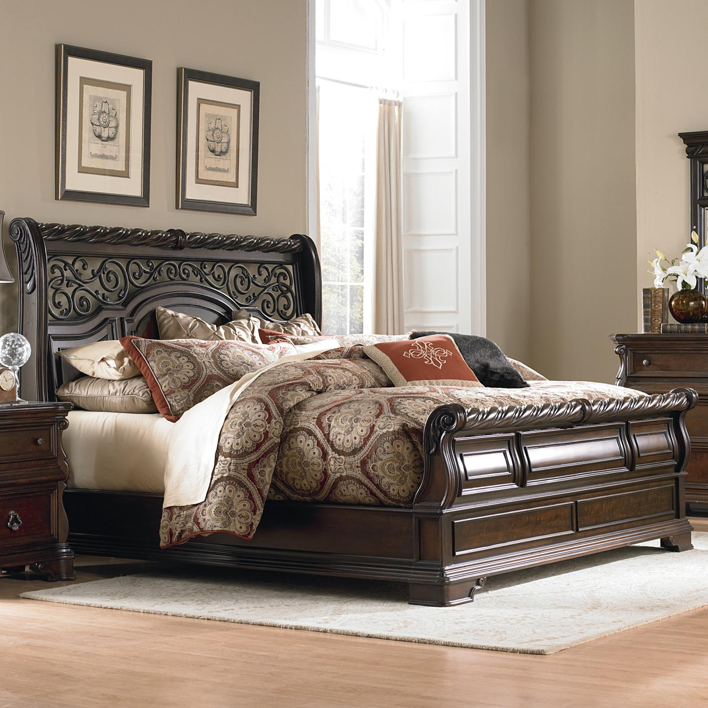 King Traditional Sleigh Bed By Liberty Furniture