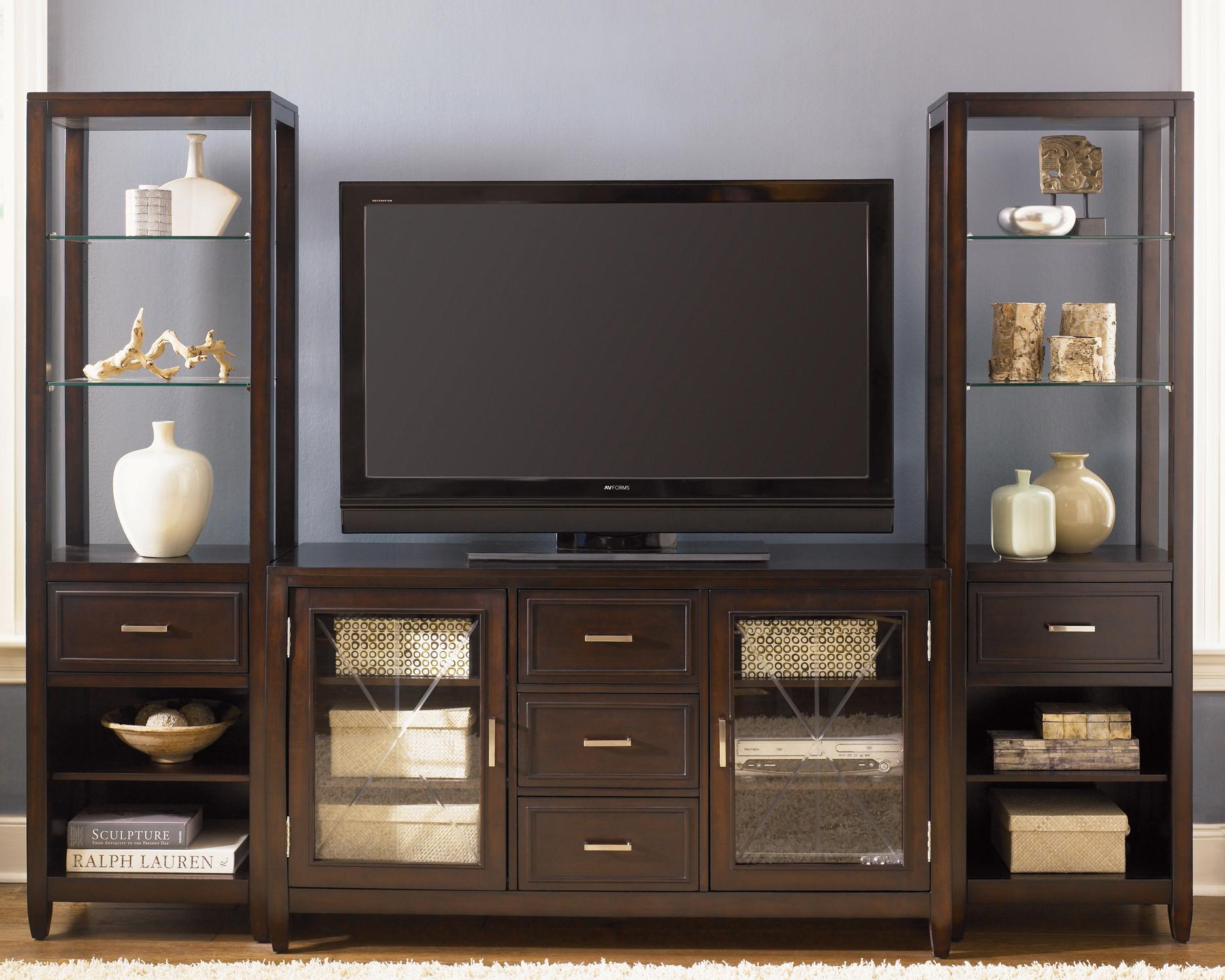 Two Door Three Drawer Entertainment TV Stand By Liberty