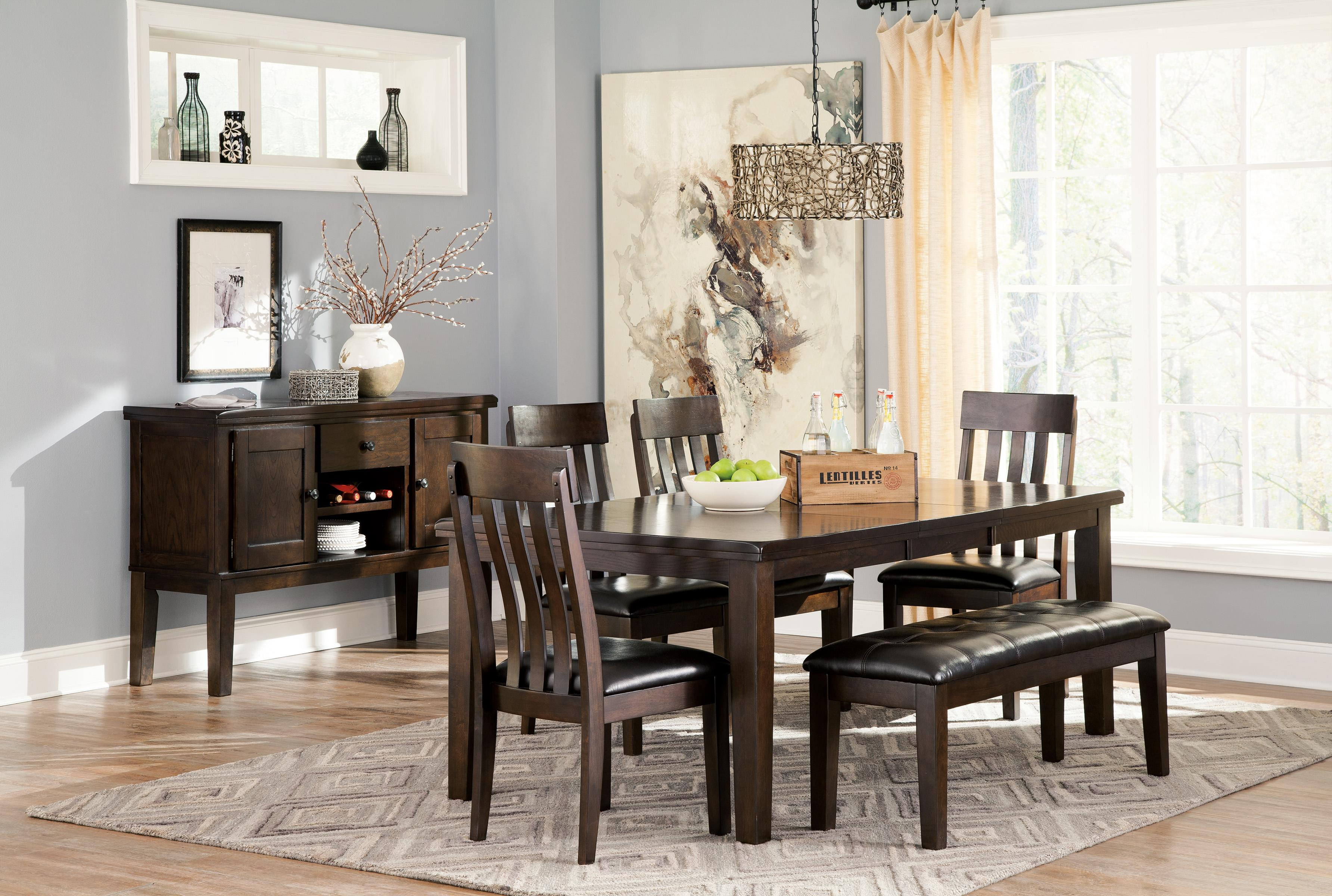 Rectangular Dining Room Table W/ Butterfly Leaf By