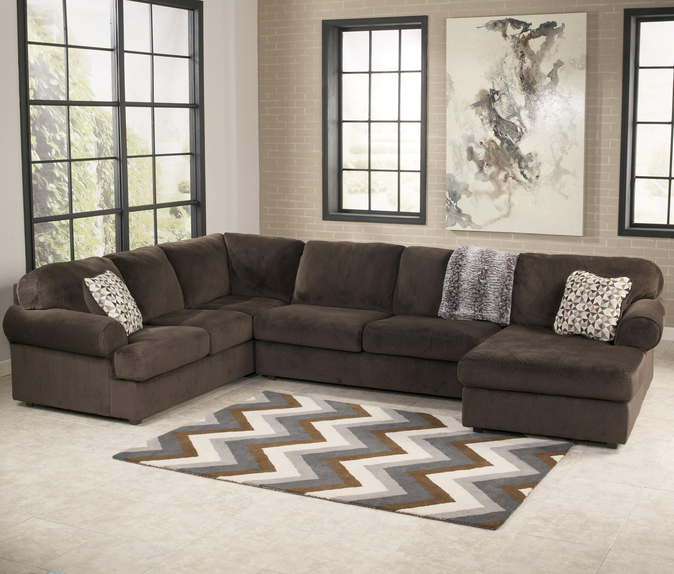 Casual Sectional Sofa With Right Chaise By Signature Design By Ashley Wolf And Gardiner Wolf