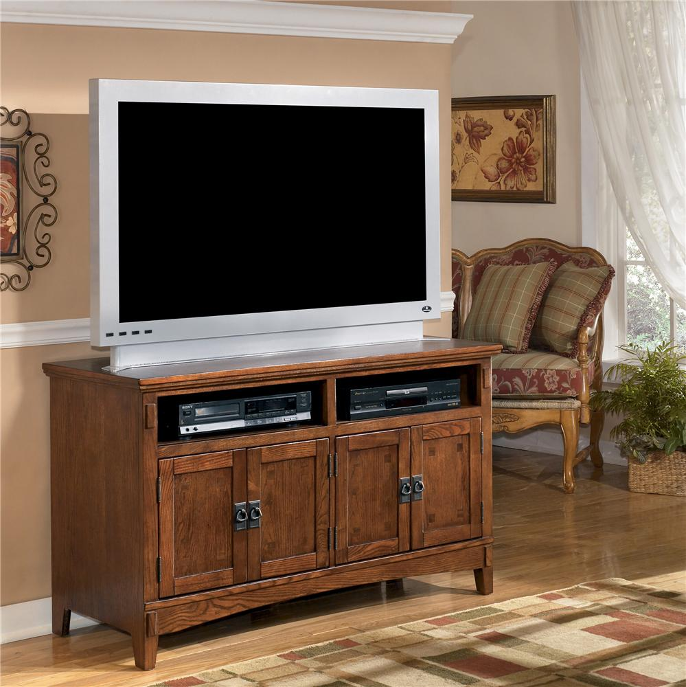 50 Inch Oak TV Stand With Mission Style Hardware By Ashley