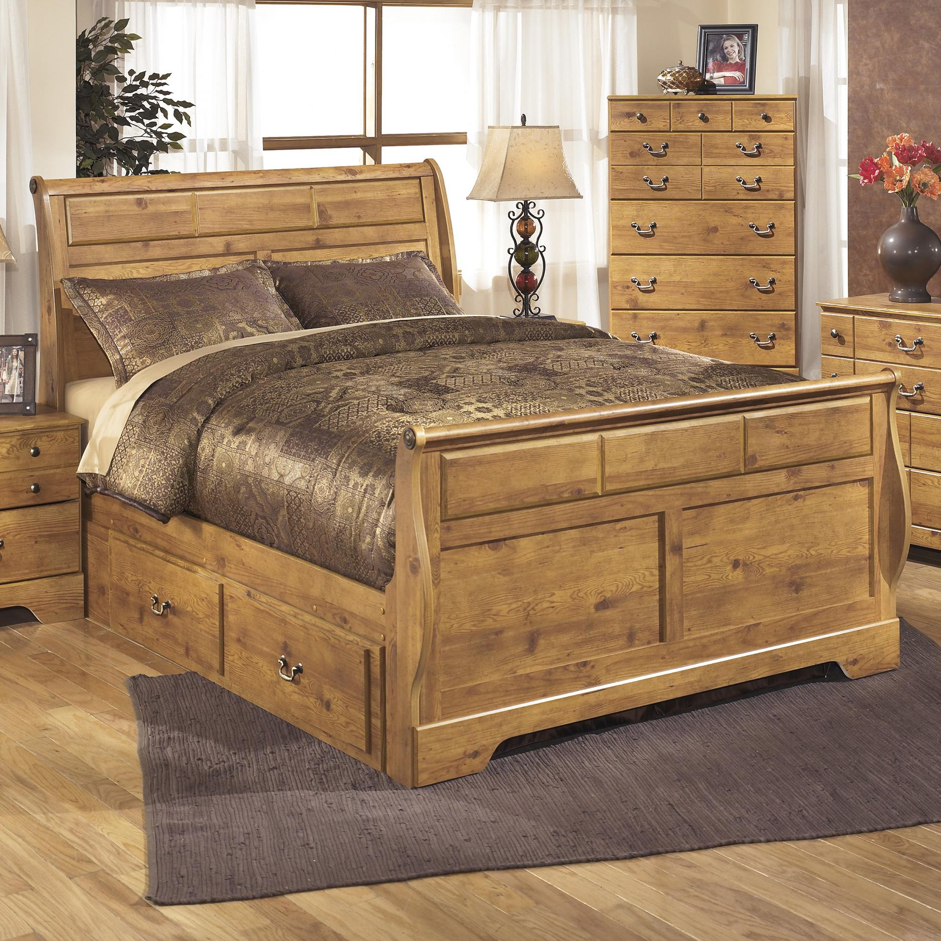 King Sleigh Bed With Under Bed Storage By Signature Design