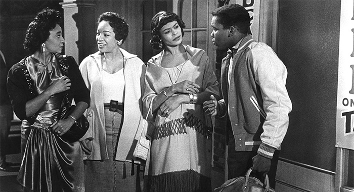 TAKE A GIANT STEP, Royce Wallace, Pauline Meyers, Frances Foster, Johnny Nash, 1959 (Courtesy Everett Collection)