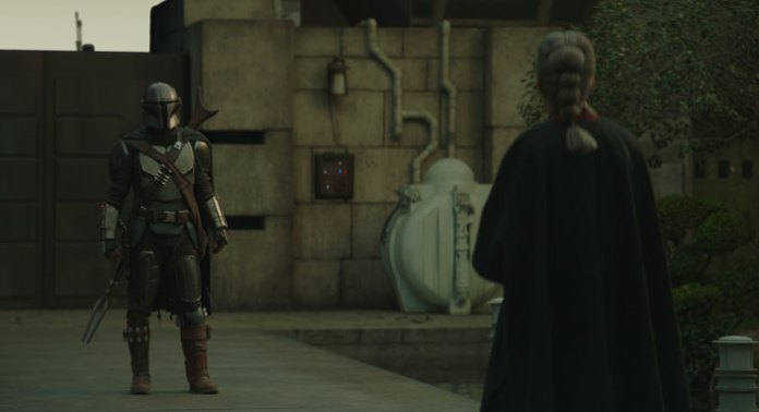 Pedro Pascal and Diana Lee Inosanto in Chapter 13 of the Mandalorian