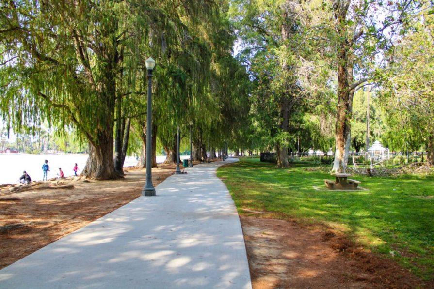A walkway in Fairmount Park, Riverside CA