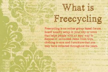 What is Freecycling