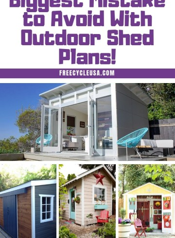 Biggest Mistake to Avoid With Outdoor Shed Plans