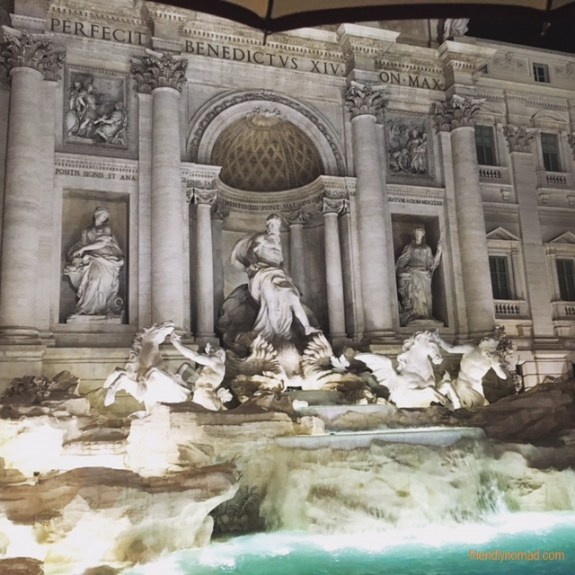 Don't miss the Trevi Fountain, one of the most famous sights in Rome (don't be surprised if you have to jostle to get to the water's edge)