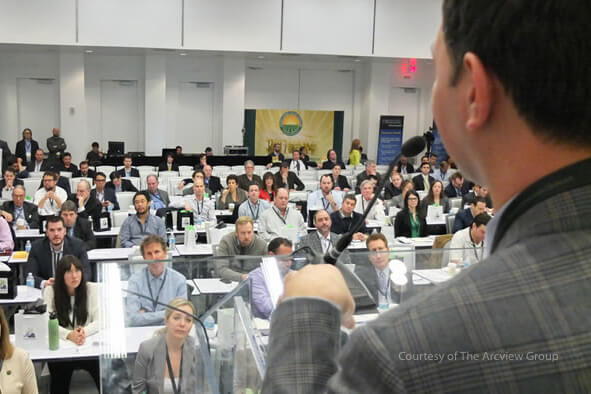 entrepreneur at a summit presentation