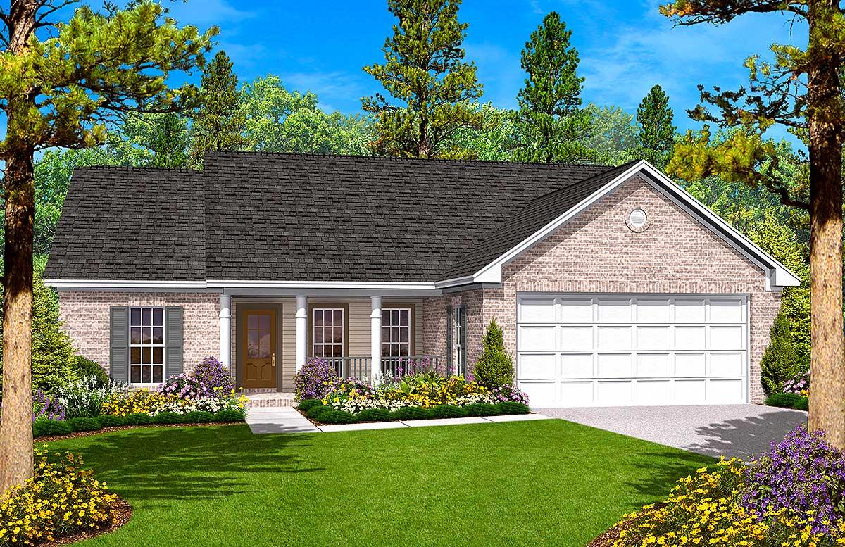 Split Bedroom Ranch House Plan - 11703HZ