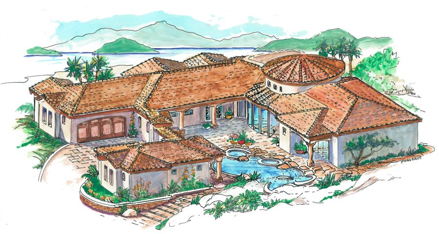 Courtyard Plan with Guest Casita   16312MD   Architectural Designs     Courtyard Plan with Guest Casita   16312MD   Architectural Designs   House  Plans