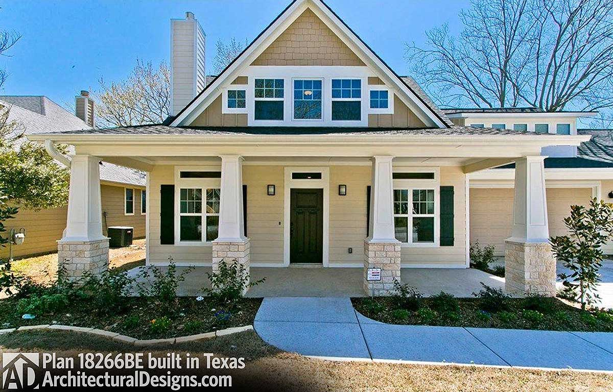 Exclusive Storybook Bungalow House Plan 18266BE comes to life in Texas Exclusive Storybook Bungalow House Plan 18266BE comes to life in Texas    photo 001