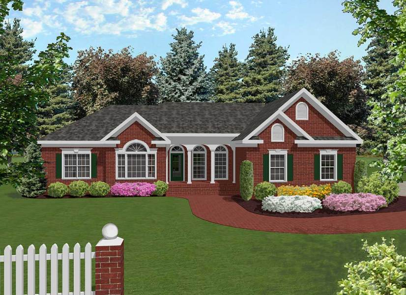 Attractive Mid Size Ranch   2022GA   Architectural Designs   House Plans
