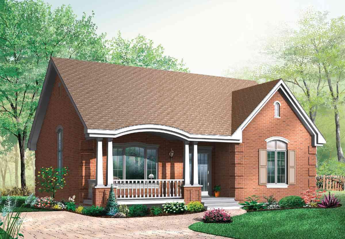 Popular Brick House Plan With Alternates