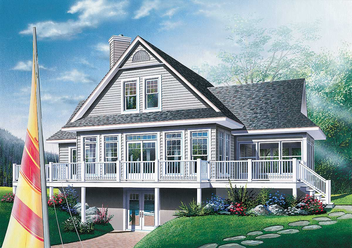 Four-Season Vacation Home Plan - 2177DR