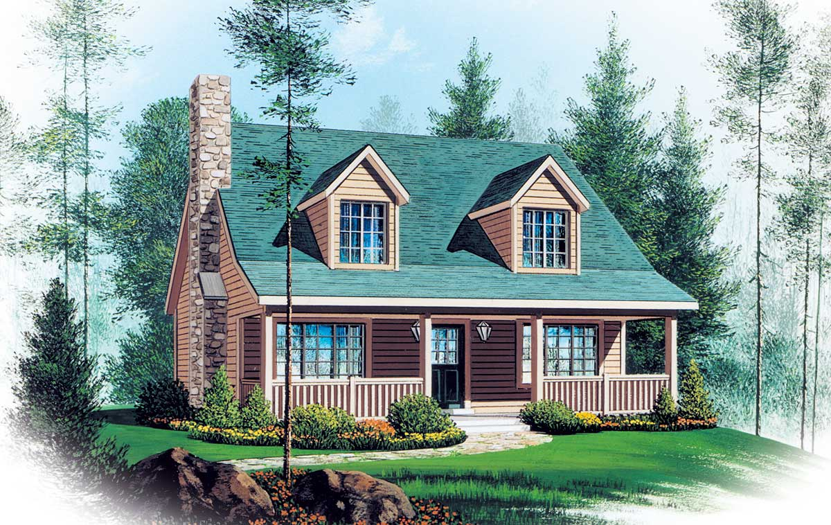 Two Story Vacation Home Plan - 2262SL