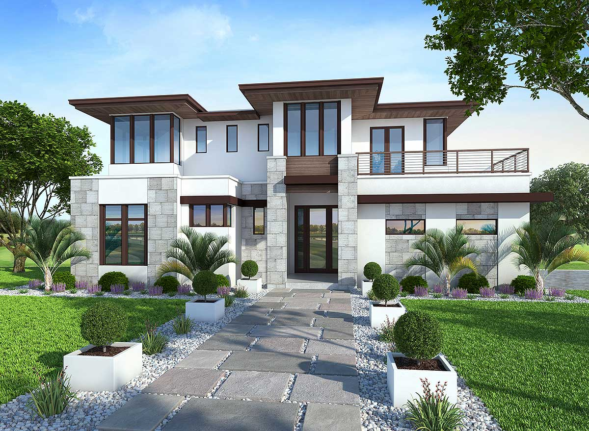 Spacious, Upscale Contemporary With Multiple Second Floor