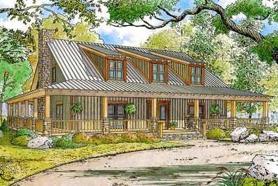 Rustic Country Home Plan with Wraparound Porch   70552MK     Rustic Country Home Plan with Wraparound Porch   70552MK thumb   01