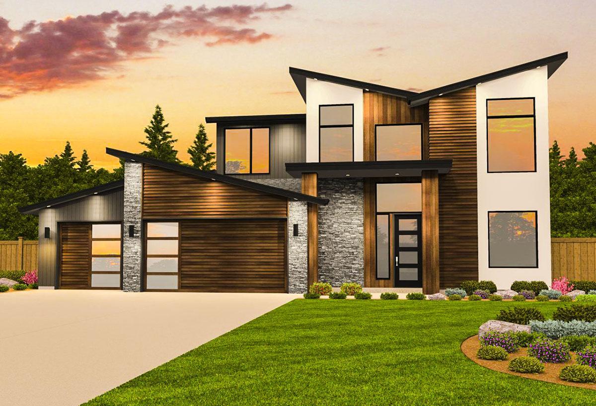 Contemporary House Plan With Casita