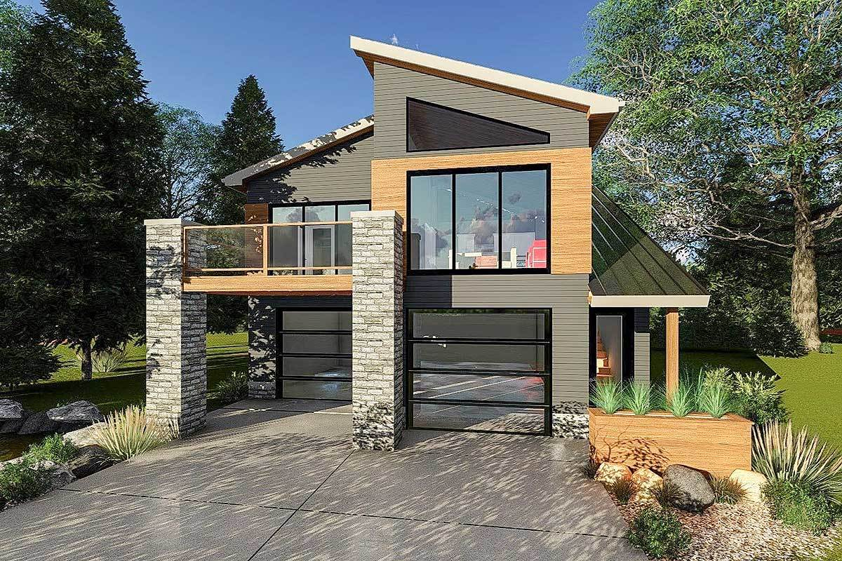 Ultra-Modern Tiny House Plan - 62695DJ