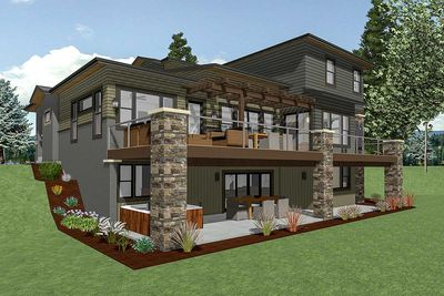 House Plan for a Rear Sloping Lot   64452SC   Architectural Designs     House Plan for a Rear Sloping Lot   64452SC thumb   09