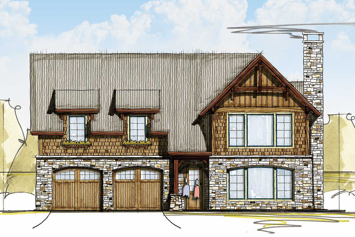 Rugged And Rustic 3-Bed Carriage House Plan