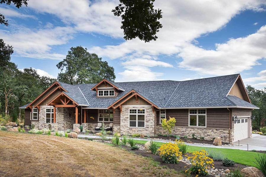 Beautiful Northwest Ranch Home Plan   69582AM   Architectural     Beautiful Northwest Ranch Home Plan   69582AM   01