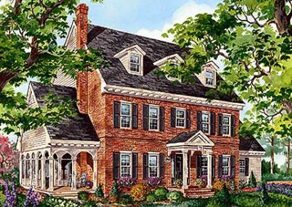 Classic Brick Colonial Home   80696PM   Architectural Designs     Classic Brick Colonial Home   80696PM   Architectural Designs   House Plans