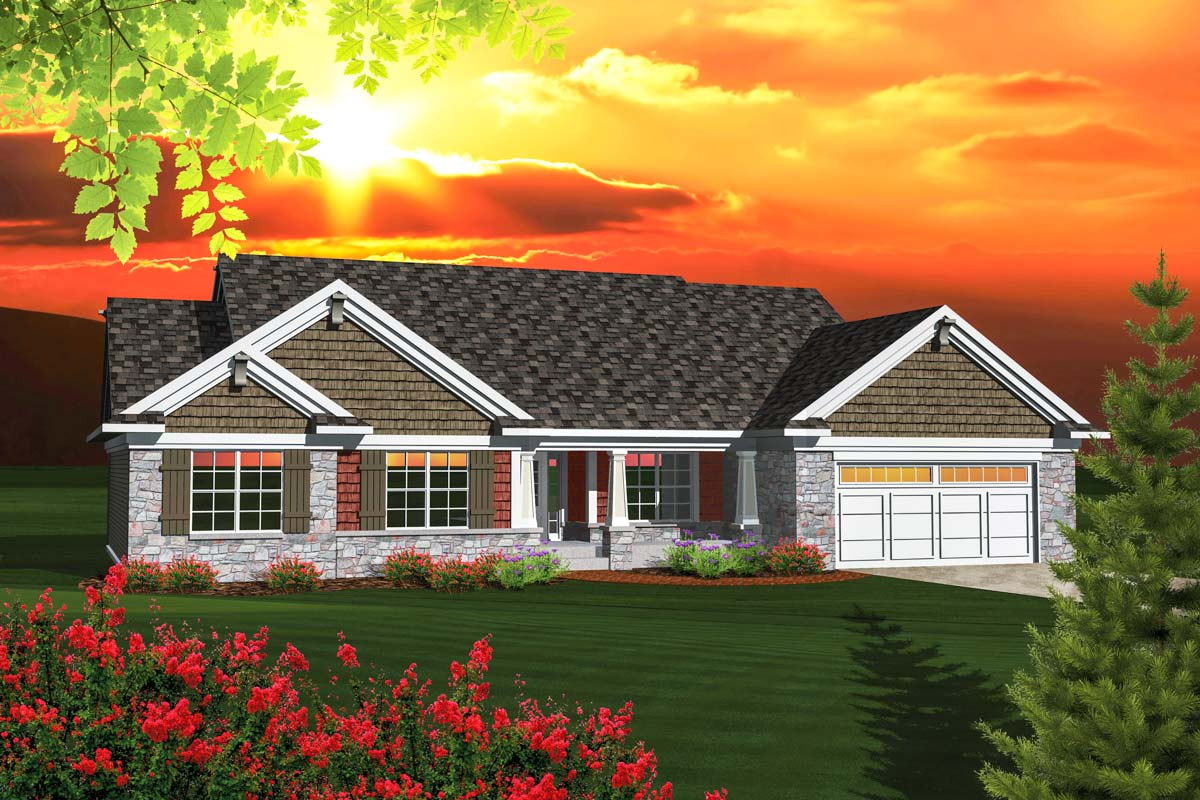 Affordable Ranch Home Plan - 89848AH