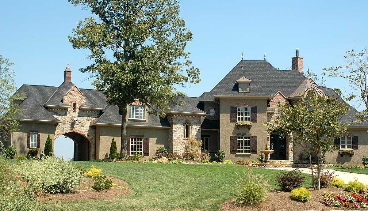 French Country Estate Home Plan - 9323EL