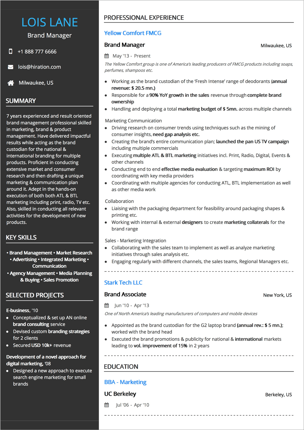 Resume Format Guide With Examples