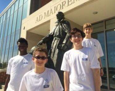 SLUH Freshman in Alta Gracia PE t-shirts with St. Ignatius (1)