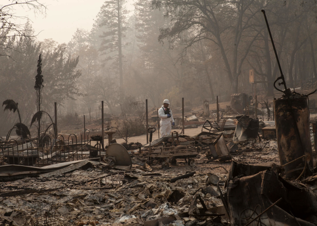 Camp Fire search and debris clean-up