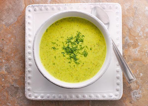 Broccoli Cauliflower Soup from SoupAddict.com