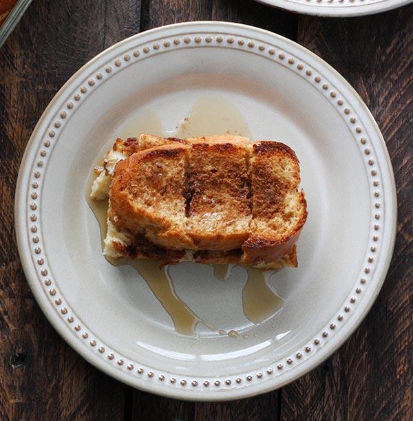 Cinnamon Eggnog Baked French Toast from SoupAddict.com