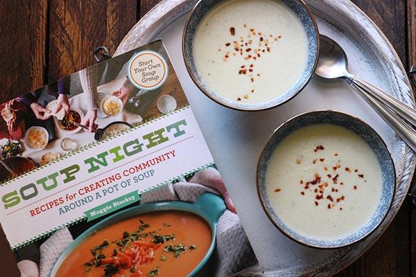 Creamy Cauliflower Soup via @SoupAddict and the new cookbook, Soup Night