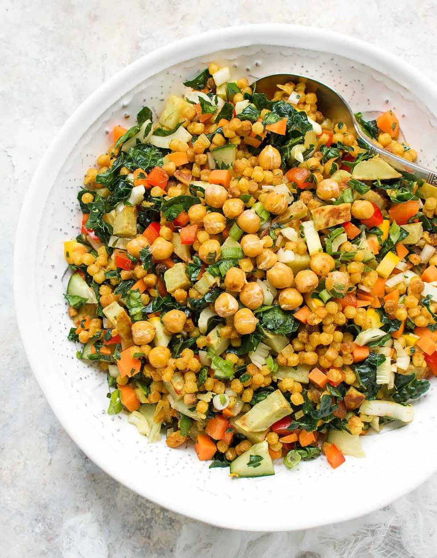 Fall Israeli Couscous Salad. Recipe at SoupAddict.com