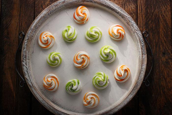 Tangerine Dream Meringue Swirls | SoupAddict.com