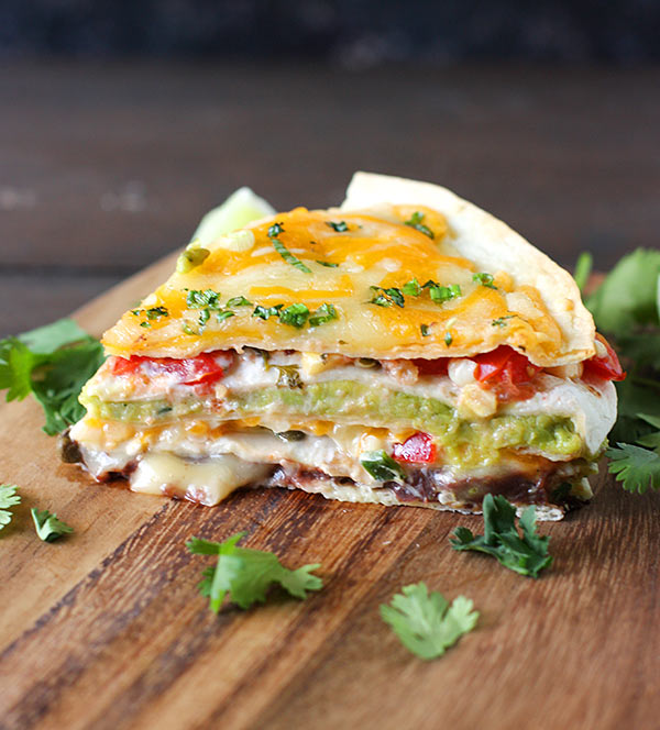 Super Stacked Quesadilla Pie from SoupAddict.com