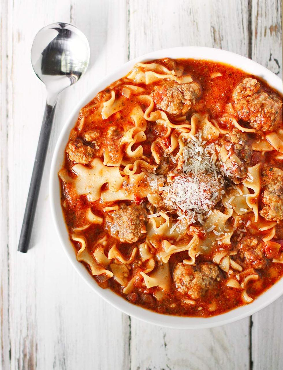 Ricotta Meatball Soup from Soupaddict.com