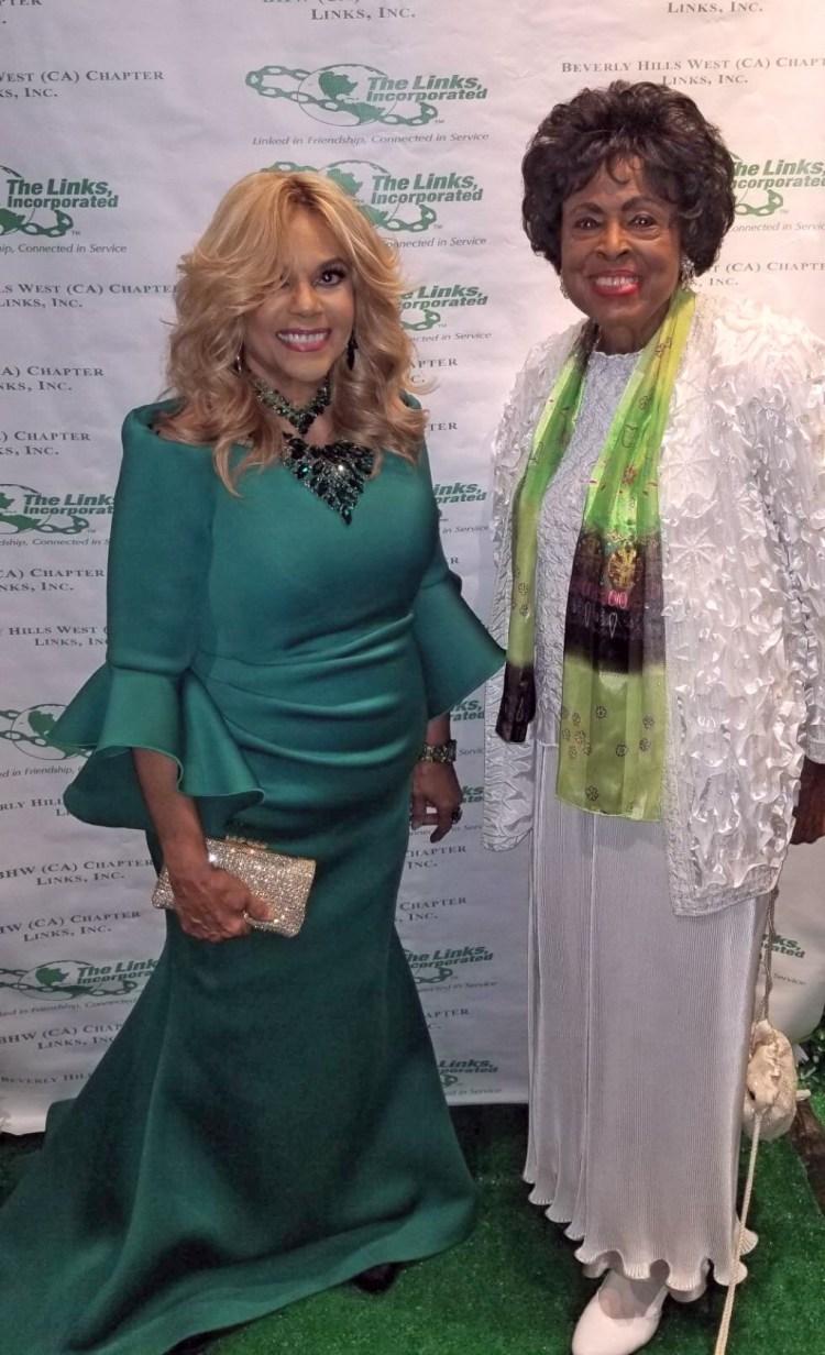 Claudette Robinson with Congresswoman Diane Watson