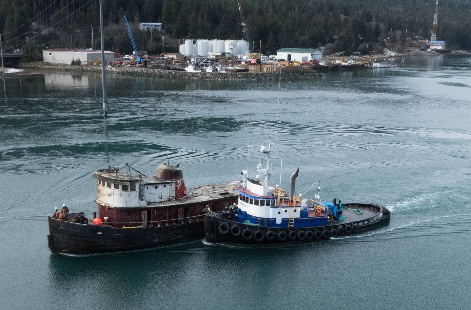 Slideshow Tugboat Challenger Refloated And Moved To Downtown Waterfront